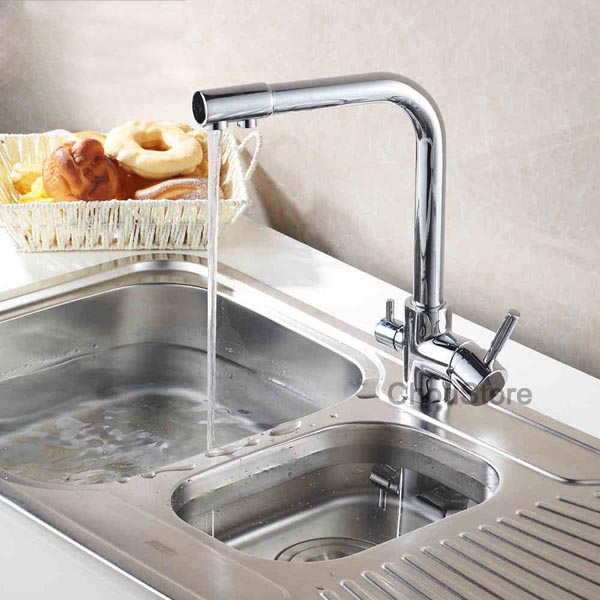 Luxury 3 Way Kitchen Sink Faucet Mixer Tap With Pure Drinking Water