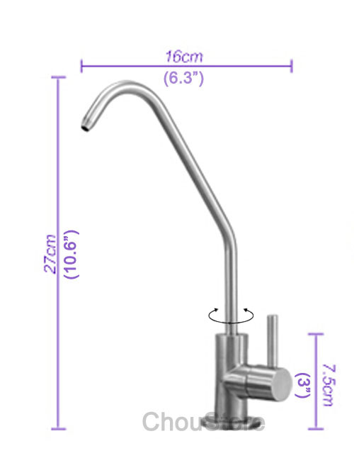 304 Stainless Steel Kitchen Sink Pure Water Faucet Filter Drinking ...