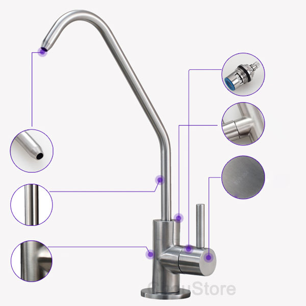 water filter faucet stainless steel. Categories 304 Stainless Steel Kitchen Sink Pure Water Faucet Filter Drinking