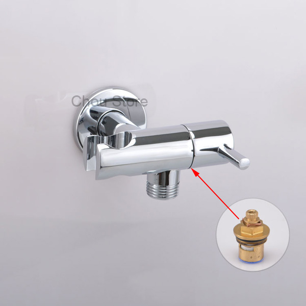 """Pair of Square Brass RED//BLUE Bathroom Angle Stop Valve 1//2/"""" Male Thread D36"""